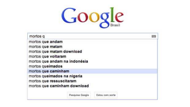 O autocompletar do Google